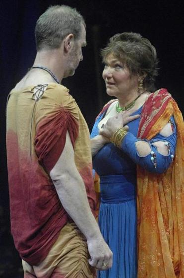 "Tina Packer and Nigel Gore in ""Antony and Cleopatra"" in 2007."